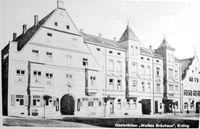 Altes Bild von der Gaststätte Erdinger Weissbräu