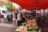 Obst und Gemüsestand auf dem Markt