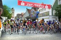 Start beim Radrennen in der Innenstadt