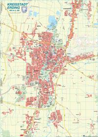 Stadtplan von Erding als PDF Dokument